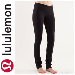 LULULEMON Presence Pants Black Luon Yoga Leggings